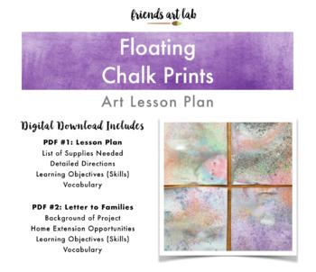 Chalk Prints Lesson Plan (Art, Science, Printmaking) - Gorgeous on Display!