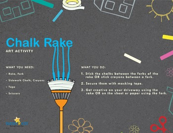 Chalk Rake, art activity
