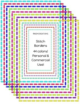 Chalk Stitch Border Set - 44 colors! {Personal & Commercial Use}