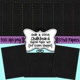 Chalk & Stitch Digital Chalkboard Paper Background Set of 8 {Ice Cream Shoppe}