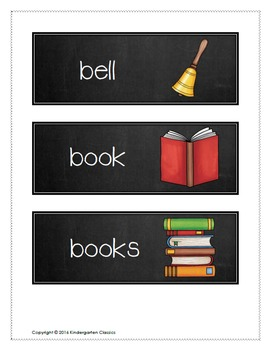 Chalk Style Back To School Vocabulary Cards (August September)