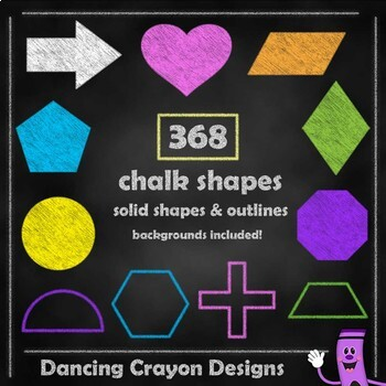 Chalk Style Shapes Clip Art