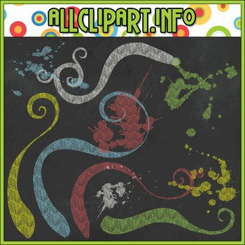 Chalk Swirls & Splats Elements