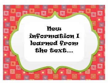 Chalk Talk Discussion Questions Set Nonfiction Text