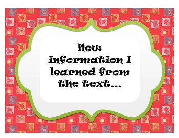 Chalk Talk Accountable Talk Discussion Questions Set Nonfiction Text
