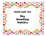 Reading Habits Accountable Talk Chalk Talk Discussion Questions Back to School