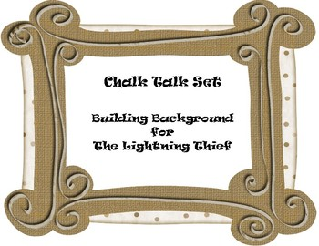 The Lightning Thief Building Background  CHALK TALK Discussion Questions Set
