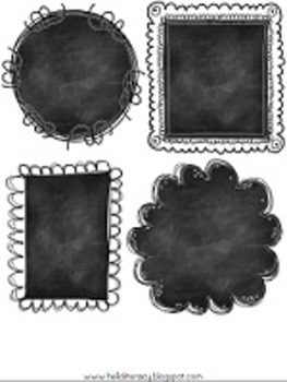Chalk Talk! Doodle Chalkboard Frames {For Personal or Commercial Use}