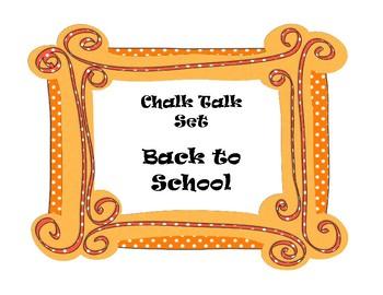 Back to School Ice Breaker  CHALK TALK SET