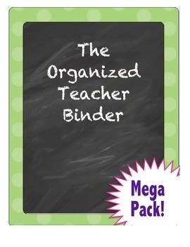 Teacher Binder and Planner Mega Pack - EDITABLE - Chalk Theme