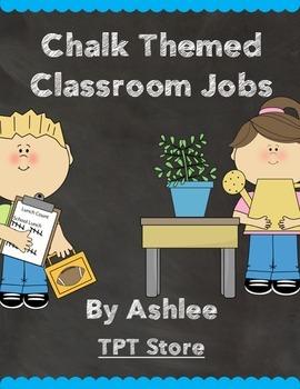 Chalk Themed Job Chart