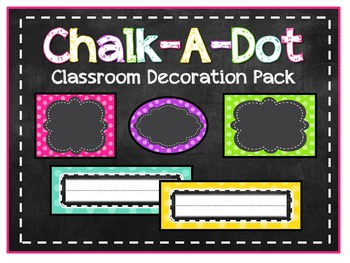 Chalk-a-Dot Classroom Decoration Pack