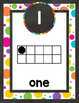 Chalkboard and Bright Dots Number Posters-Classroom Decor