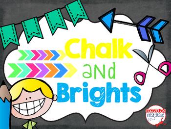 Chalk and Brights Classroom Decor