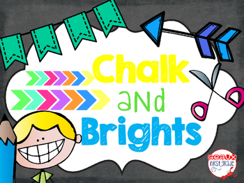 Chalk and Brights Classroom Decor