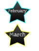 Chalk and Brights Star Student clip labels