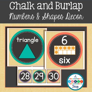 Chalk and Burlap Numbers and Shapes Posters