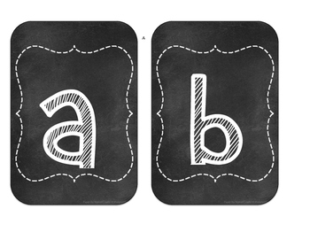 Chalk board Alphabet letters