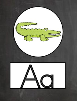 Chalk it Up! Chalkboard Alphabet Line and Word Wall Header Set