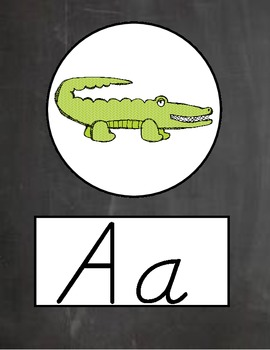 Chalk it Up D'NEALIAN Alphabet Line and Word Wall Set