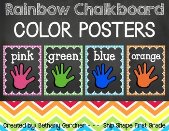 Chalk it Up! Rainbow Chalkboard Color Posters