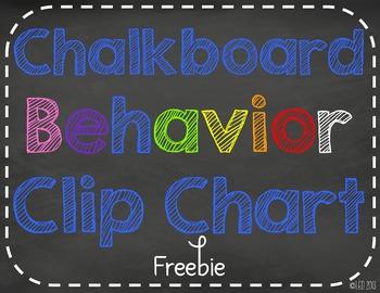 Chalk it Up to Great Behavior! Clip Chart Freebie