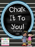 Chalk it to You! { Square Numbers 1-20 }