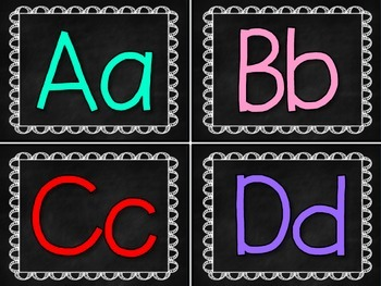 Chalk it to You! { Word Wall Letters }
