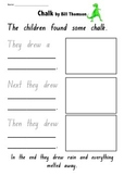 Recount Writing Activity- for Visual text- Chalk by Bill Thomson