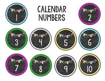 Blackboards & Buntings Calendar and Labeling Numbers