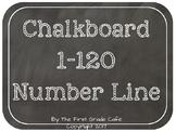 Chalkboard 1 to 120 Number Line