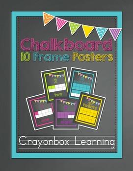 Chalkboard 10 Frame Posters - 0-20