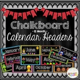 Chalkboard 12-Month Calendar Headers