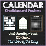 Chalkboard Calendar Posters: 120 Chart, Number of the Day,