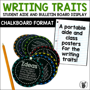 Writing Traits Student Aid and Posters in Chalkboard
