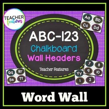 Word Wall Letters- Chalkboard Theme