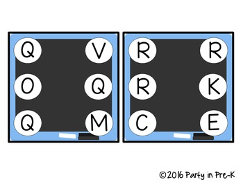 Chalkboard ABC Clip It Cards-3 Versions