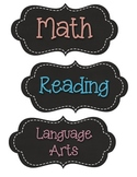 Chalkboard ABC headers and Subject Headers
