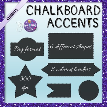 Chalkboard Accents Cliparts