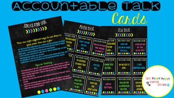 Chalkboard Accountable Talk Cards