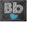 Chalkboard Alphabet ABC Freize Word Wall Labels