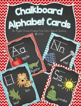 Chalkboard Alphabet Cards
