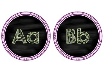 Chalkboard Alphabet Cards {freebie}