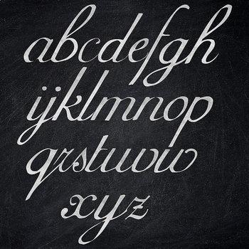 Chalkboard Alphabet, Chalk Letters, Chalkboard Font Clipart, Type Clipart
