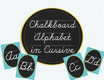 Chalkboard Alphabet Cursive/Script