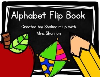 Chalkboard Alphabet Flip Book- Manuscript