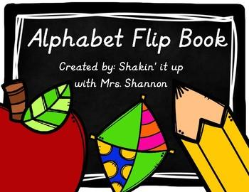 Chalkboard Alphabet Flip Book- Modern Manuscript
