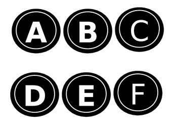 Chalkboard Alphabet Letters