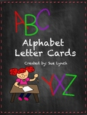 Chalkboard Alphabet Letters wordwall, bulletin boards, ABC, labeling, rigby