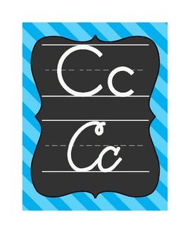 Chalkboard Alphabet Lines-in print & cursive